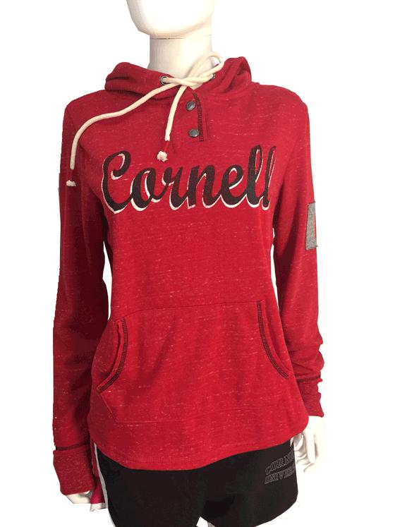 Cornell Women's Double Fleece Hoodie