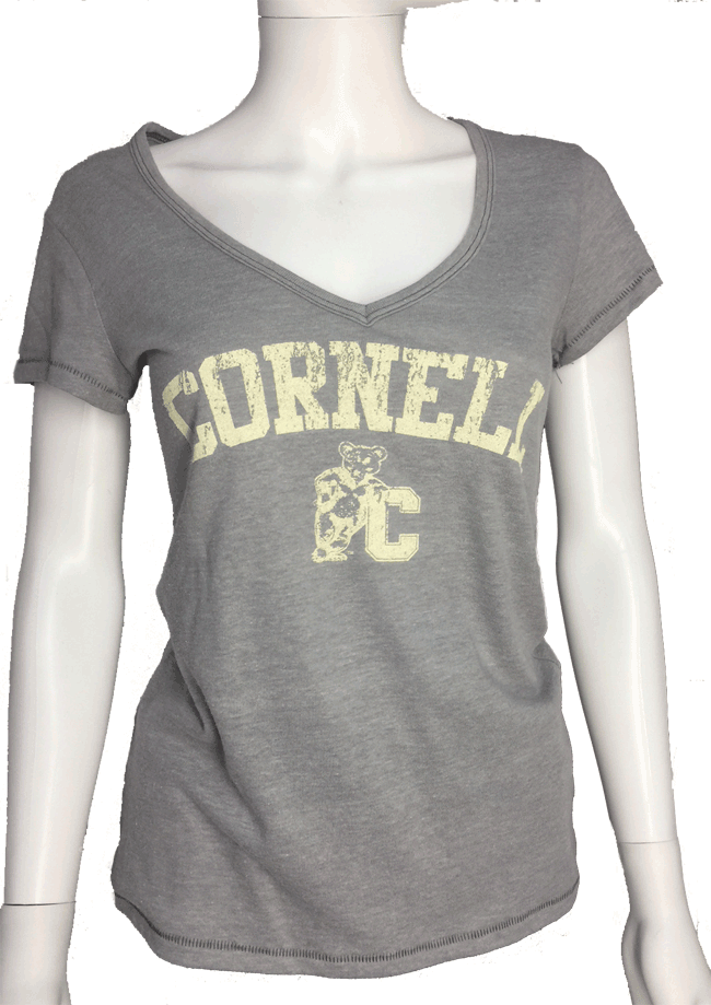 Cornell Women's Vintage V Tee-Heather