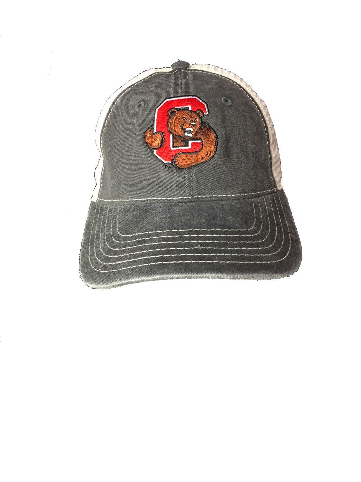 Cornell Black/Stone Washed Trucker Hat
