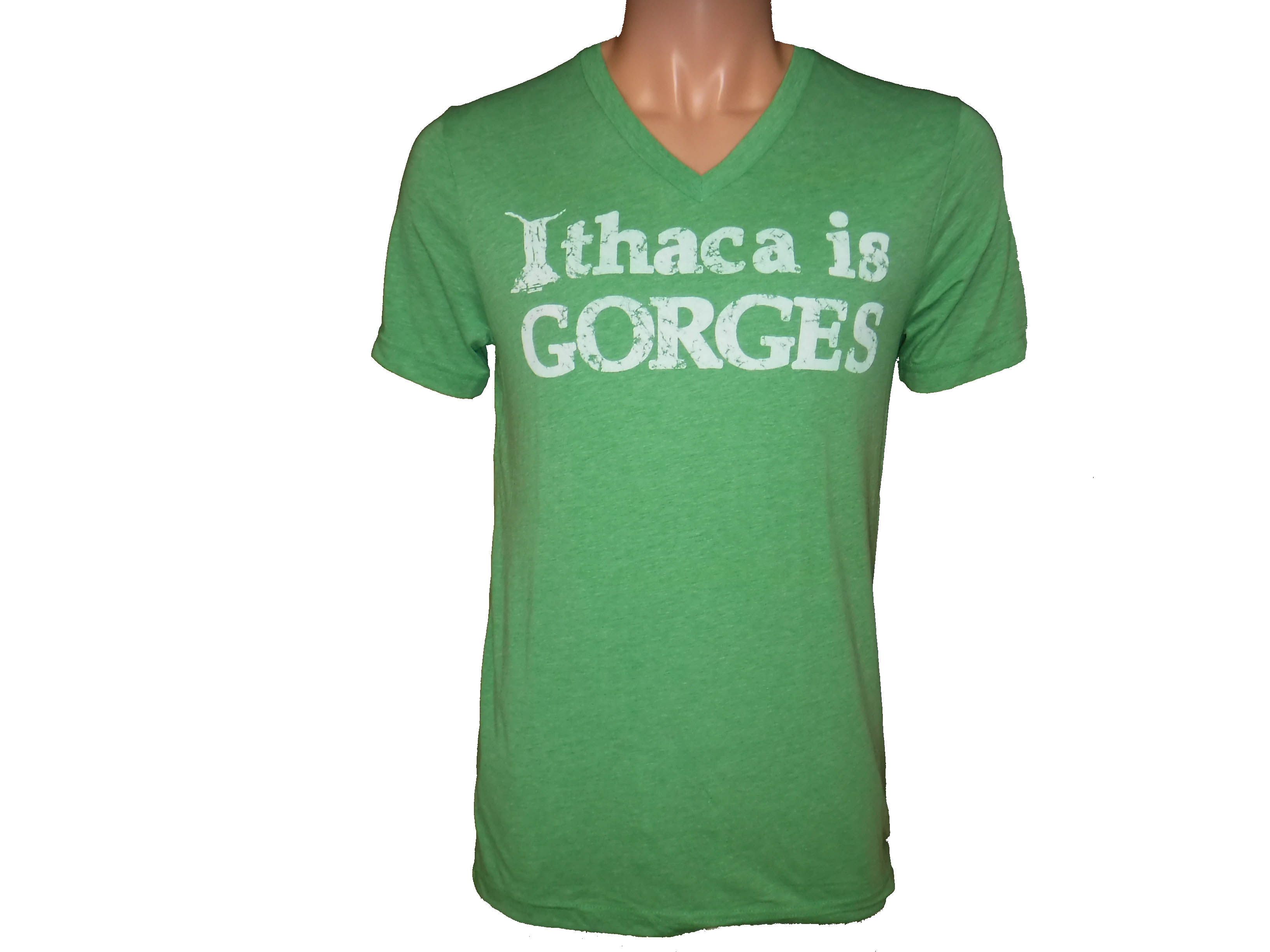 Ithaca is Gorges Tri-blend V-Neck Green