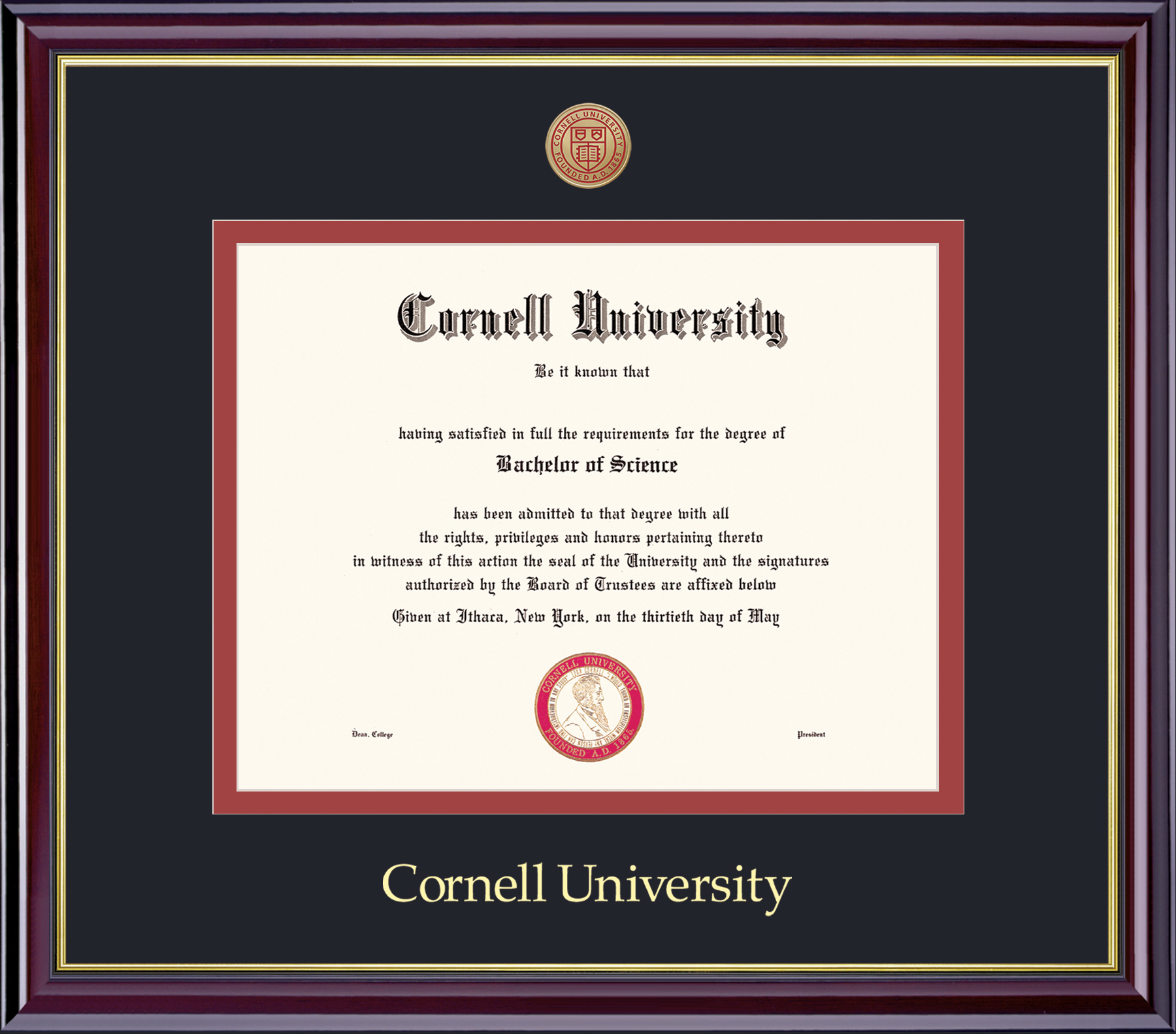 Cornell Pre 1994 Diploma Frame-Windsor