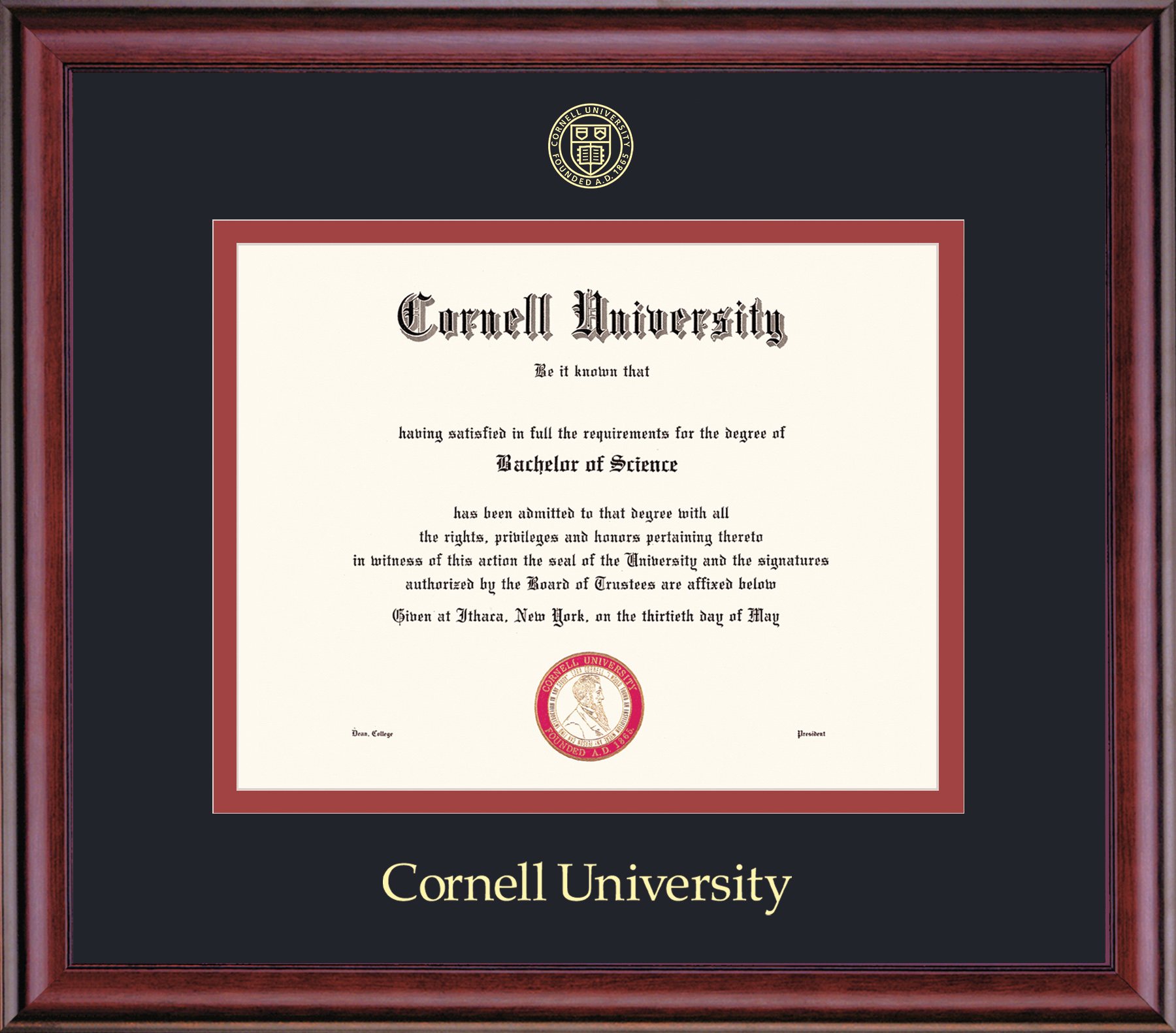 Cornell Pre 1994 Diploma Frame-Classic