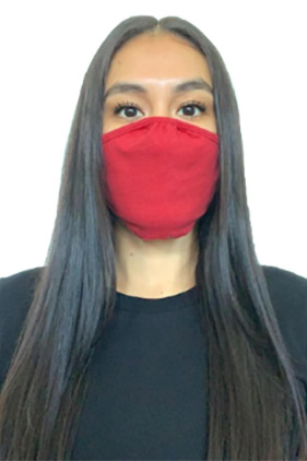 Face Mask-Heather Red
